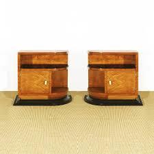 Birdseye Maple Veneer Dresser by Pair Of Art Deco Nightstands Made From Dark Stained Beech With