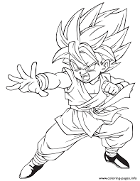 Dragon Ball Character Coloring Page Pages