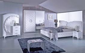 schlafzimmer anatalia in weiss silber modern 160x200 cm