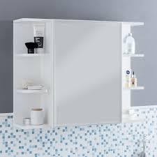 finebuy hängeschrank fb51815 weiß 80x64 5x20cm spanplatte spiegelschrank modern design badregal holz freischwebend schränkchen badezimmerschrank