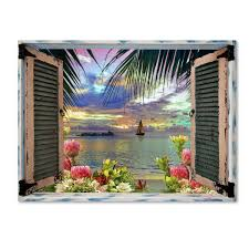 Tropical Window Art Curtains by Top Product Reviews For Leo Kelly U0027tropical Window To Paradise Iii