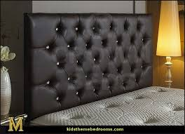 Black Leather Headboard With Crystals by Decorating Theme Bedrooms Maries Manor Rhinestone Headboards