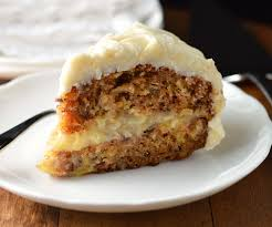 Carrot Cake with creamy pineapple filling Friday is Cake Night