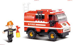 Building Blocks Educational Kids Toy Mini Fire Truck 133PCS Online ...