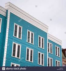 100 Sliding Exterior Walls Square Residential Building With Blue Exterior Wall And