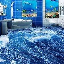 moderne minimalistischen meer wasser 3d boden wandbild tapete badezimmer tragen nicht slip wasserdicht verdickt selbst adhesive vinyl wand papiere