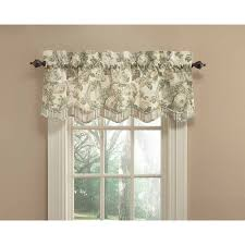 Waverly Curtains And Valances by Shop Waverly Spring Bling 18 In Platinum Cotton Back Tab Valance