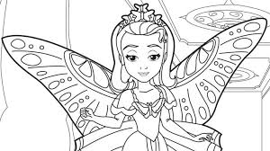 Print Coloring Disney Pages Princess Sofia With Sophia Page The First