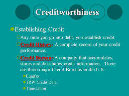 trw credit bureau unit 6 consumer credit ppt
