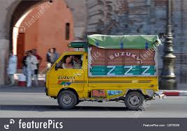 Truck Transport: Small Colorful Truck In A Street Of Marrakesh ...