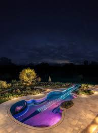 Glow In The Dark Mosaic Pool Tiles by Summery Swimming Pools With The Most Unusual Shapes
