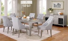 Diocles CM3020T Dining Table In Silver Color W Options
