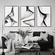 nordic schwarz weiß kunst wand kunst leinwand malerei poster drucke abstrakte linie bild für wohnzimmer morden wohnkultur keine rahmen