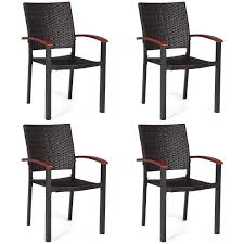 Costway: Costway 4PCS Patio Rattan Dining Chairs Armchair Stackable Wicker  Outdoor Aluminum Frame | Rakuten.com Gdf Studio Dorside Outdoor Wicker Armless Stack Chairs With Alinum Frame Dover Armed Stacking With Set Of 4 Palm Harbor Stackable White All Weather Patio Chair Bay Island Noble House Multibrown Ding 2pack Plowhearth Bistro Two 30 Arm Brown 51 Bfm Seating Ms11cbbbl Gray Rattan Inoutdoor Restaurant Of Red By Crosley Fniture
