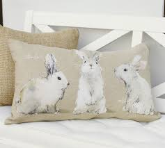 Pottery Barn Throw Pillows by Behind The Design Pottery Barn U0027s Watercolor Bunny Pillows