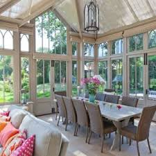 Design Ideas For A Large Victorian Conservatory In Other With Skylight And Grey Floors