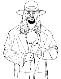 Wwe Color Sheets Kids Coloring