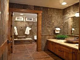 Rustic Style Bathrooms Double Bathroom Vanities