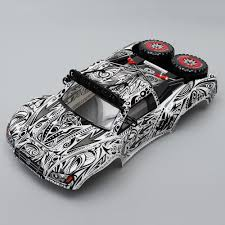 100 Short Course Truck Killerbody 110 Rc Car Body Shell Finished Short Course Truck Tattoo