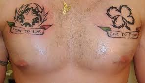 Italy Fight To Live Irish Tattoo