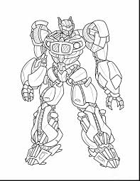 Outstanding Cool Transformers Coloring Pages With Bumblebee