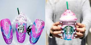 Starbucks Unicorn Frappuccino Hair Inspirational People Are Creating Nail Art To Match The