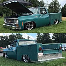 Slammed Early Squarebody With Utility Bed. | Trucks | Pinterest ...