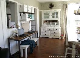 Add A Desk To Make Home Office In The Dining Room