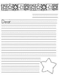 Free Letter Writing Paper for First Grade