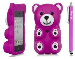 Amazon iSee Case TM 3D Cartoon Polar Bear Animal Silicone