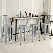 Counter Height Chairs With Backs by Set Of 4 Modern Counter Height Stools Onebigoutlet Com
