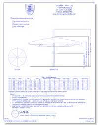 CAD Drawings Uhlmann Umbrellas Classic Large Outdoor Patio Umbrella