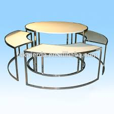 New Design Round Retail Display Table Tables Wood