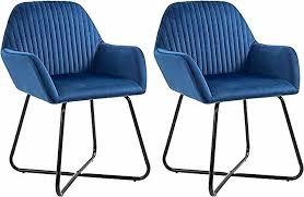bishop esszimmerstühle 2 stk blau samt home decor