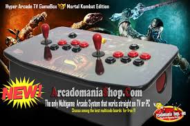 Mortal Kombat Arcade Cabinet Specs by Hyper Arcade Tv Gamebox Mortal Kombat Edition Arcadomania Shop