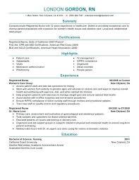 Experienced Emergency Room Nurse Resume Examples
