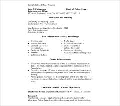 Chief Police Officer Resume Template