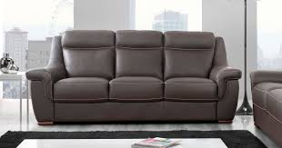 canapé cuir de buffle 3 places carla fixe ou relaxation buffle ou vachette personnalisable sur