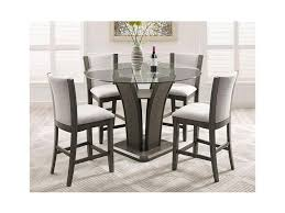 Camelia Grey 5 Piece Counter Height Table Set