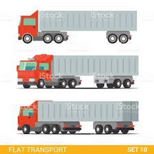 Flat 3d Isometric High Quality Funny Cargo Delivery Road Transport ...