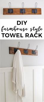 Farmhouse Style DIY Towel Rack | Diy Home Decor | Easy Home Decor ... Hanger Storage Paper Bathro Ideas Stainless Towel Electric Hooks 42 Bathroom Hacks Thatll Help You Get Ready Faster Racks Tips Cr Laurence Shower Door Bar Doors Rack Diy Decor For Teens Best Creative Reclaimed Wood Bath Art And Idea Driftwood Rustic Bathroom Decor Beach House Mirrored Made With Dollar Tree Materials Incredible Hand Holder Intended Property Gorgeous Small Warmer Bunnings Target Height Style Combo 15 Holders To Spruce Up Your One Crazy 7 Solutions Towels Toilet Hgtv