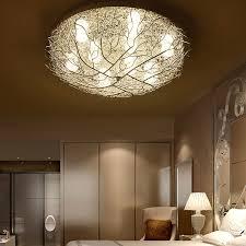 einfache led runde decken le kreative nest le warme romantische schlafzimmer zimmer le innen beleuchtung wf909530