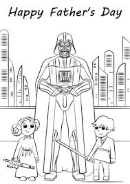 Click To See Printable Version Of Star Wars Fathers Day Coloring Page