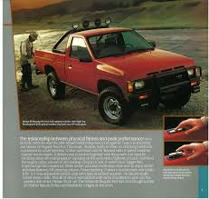 1987 Nissan Hardbody Truck D21 Dealer Brochure - US Market - NICOclub Nissan Hardbody Truck Wikipedia 17x8 With 2254517 Minis Pinterest Mini Trucks Trucks And 2005 Junk Mail 1995 Xe Extended Cab In Vivid Teal Pearl Tractor Cstruction Plant Wiki Fandom Nismo D21 Scca Autocross Event 2 At Delphi May 17 Used Car Honduras Nga Nissan Pickup Datsun Np300 Hardbody Double Cab Tow Truck Nuco Auctioneers Hands On Our Drama Learning Center Cloud White Regular 21385379