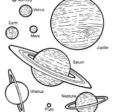 Coloring Print Pages Of Planets New At Exterior Free