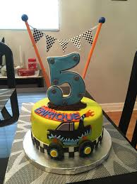 Monster Truck Cake | Greydons 5th Birthday!!!! | Pinterest | Truck ... Blaze The Monster Truck Themed 4th Birthday Cake With 3d B Flickr Whimsikel Birthday Cake Cakes Decoration Ideas Little Grave Digger Beth Anns Blakes 5th Bday Youtube Turning Stones Blog Trucks Second Generation Design Monster Truck Cakes Hunters Coolest Homemade Colors Party Food Plus Jam