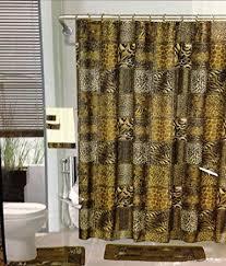 Leopard And Red Bathroom Decor by Amazon Com 18pcs Bath Rug Set Leopard Brown Bathroom Rug Shower