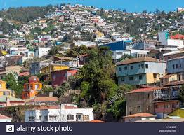 100 Houses In Chile View Over The Colorful Houses Of Valparaiso In Stock Photo