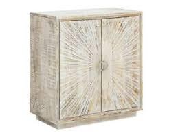 details zu kommode sambia mango holz rustikal weiß geschnitzt anrichte wohnzimmer möbel