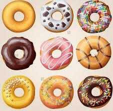 Tasty Cartoon Donuts Vector